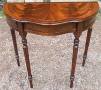 Flame Mahogany Bow front Console Table